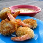 4th of July Recipe: Coconut Beer Battered Prawns with Watermelon Rind Relish